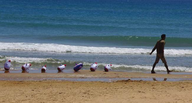 0124 59 Der Eine führt Hund an Leine der Andere seine Pinguine - Sizilien Intercampianer-Foto © Wolfgang Pehlemann DSC07114